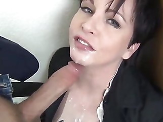 facial blowjob mature